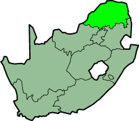 Limpopo province - map position