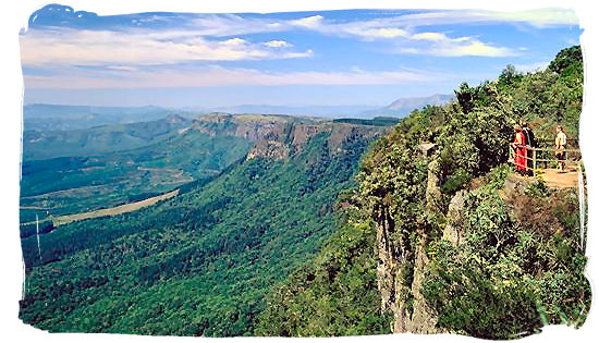 View from Gods Window in the Northern Drakensberg Escarpment in the Mpumalanga Province