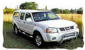 Nissan 4x4 DCab - South Africa rental car.