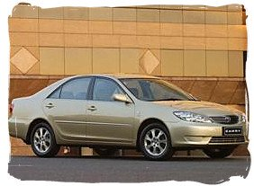Toyota Camry - South Africa rental car.