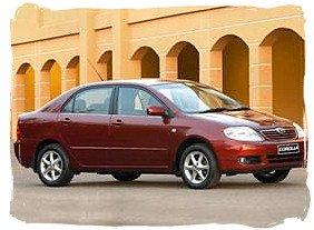 Toyota Corolla - South Africa rental car.