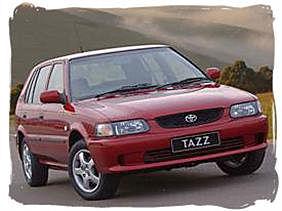 Toyota Tazz - South Africa rental car.