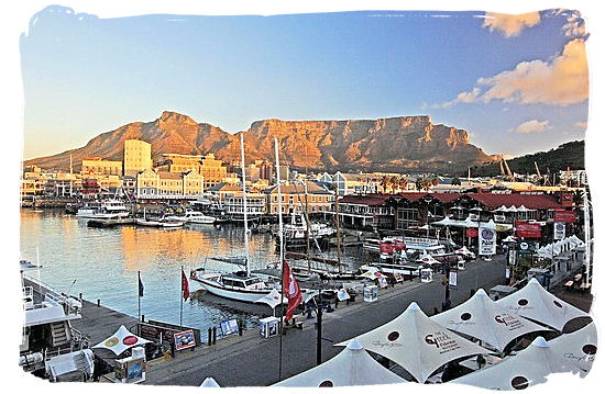 The famous V&A Waterfront in Cape Town