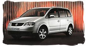 Volkswagen Touran - South Africa rental car.