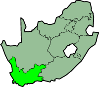 Western Cape province - map position