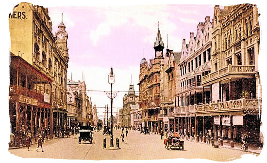 Adderley Street, Cape Town in the early 1900s - History of Cape Town South Africa, Cape of Good Hope History