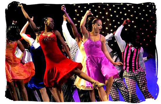 """Scene from the famous musical """"African Footprint"""" - South Africa dance"""