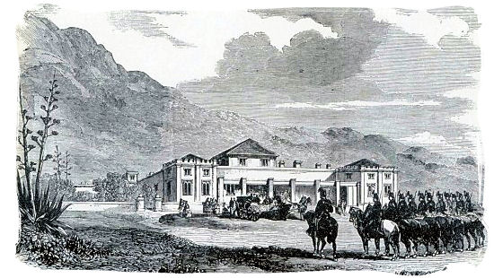 The Arrival of the French Generals Jarmin and Collineau at Sea Point House in April 1860 - History of Cape Town South Africa, Cape of Good Hope History