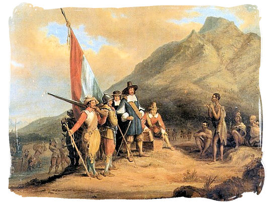 Arrival of Jan van Riebeeck is 1652, the first European to settle on South African soil