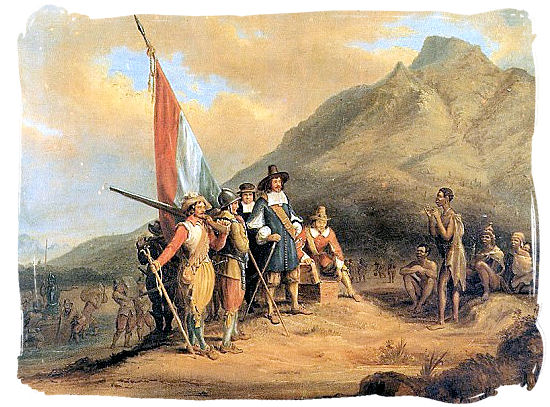 Arrival of Jan van Riebeeck in the Cape in 1652 - South African religions