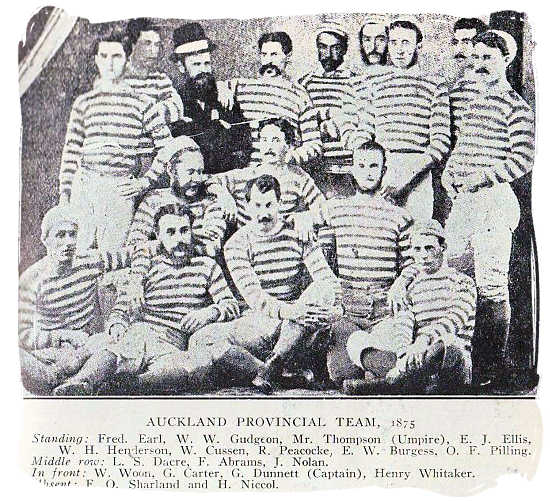 The Auckland provincial rugby team in New Zealand in 1875 - Brief History of Rugby
