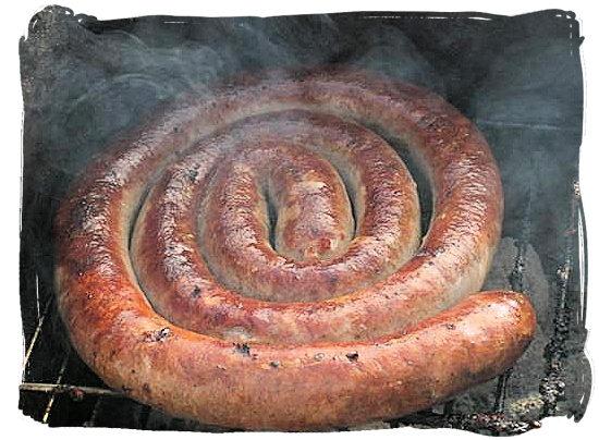 Boerewors (Farmers sausage) - South African food adventure, South Africa food safari