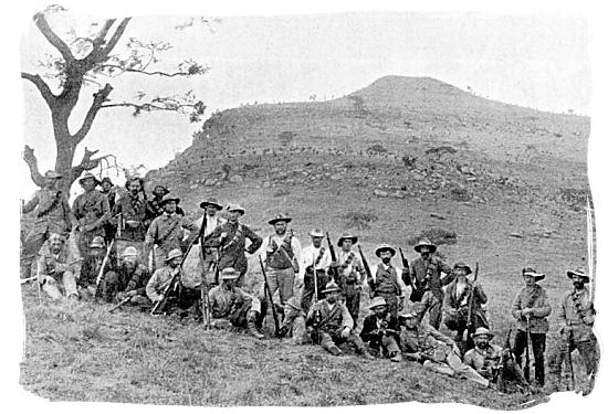 Photograph of detachment of Boers at Spionkop taken in 1900 - Anglo Boer war battlefields tours in South Africa.