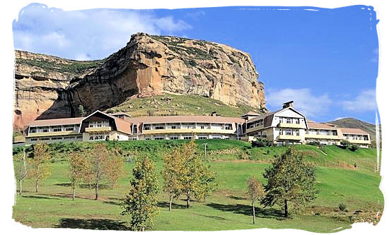 The Brandwag Hotel and rest camp in the Golden Gate Highlands National Park