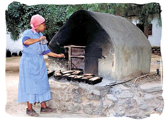 The art of bread baking, originally introduced by the European settlers - South African traditional food