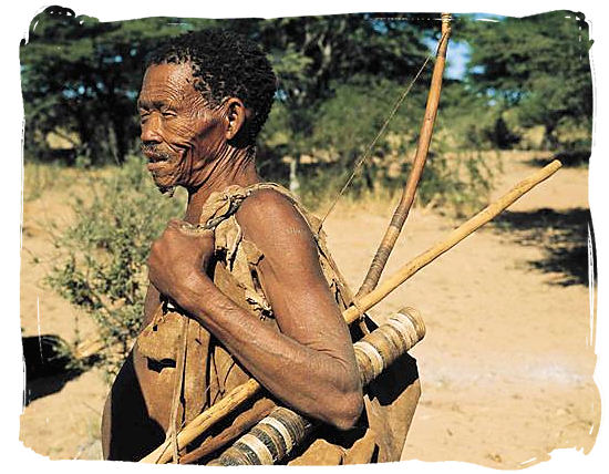 "A true descendent of the ancient hunter-gatherer ""San"" people - Kgalagadi Transfrontier Park in the Kalahari"