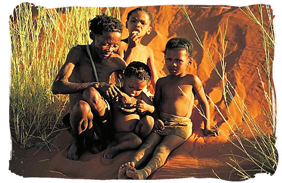 Bushman family like they used to live ages ago - South African People, Rainbow nation