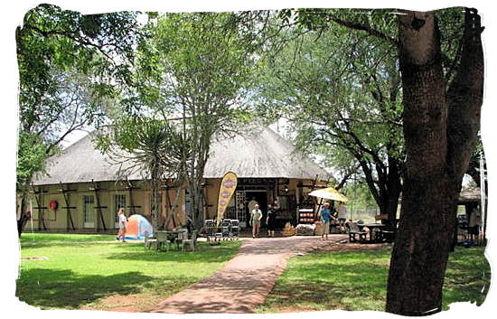 Shop with fast food cafeteria at the camp - Crocodile Bridge Rest Camp in the Kruger National Park
