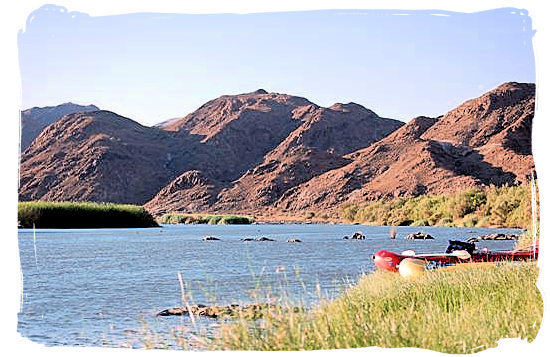 The Augrabies Falls National Park, Augrabies Resorts, South Africa - Canoeing on the Orange river