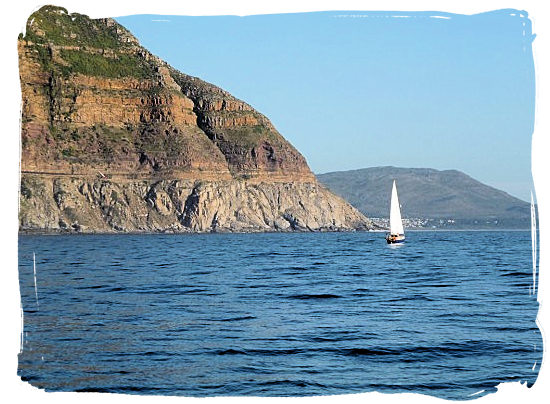 View of Chapman's Peak from the sea - Activity Attractions in Cape Town South Africa and the Cape Peninsula
