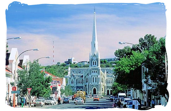 The beautiful Dutch Reformed Church at the end of Church street in Graaff-Reinet - Camdeboo National Park (previously Karoo Nature Reserve)