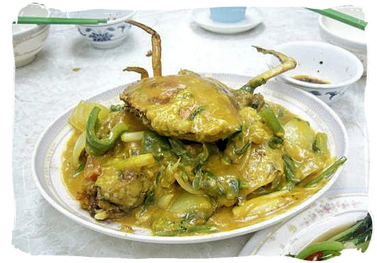 Crab curry - Portuguese food cuisine in South Africa