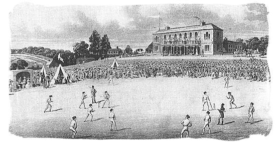 A cricket match at Darnall, Sheffield in the 1820s - Cricket South Africa