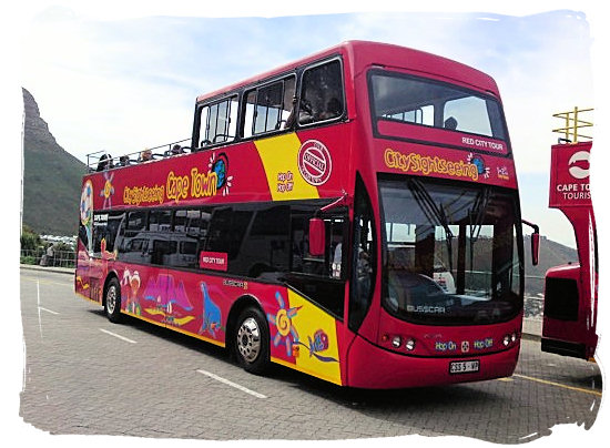 The hop-on, hop-off Cape Town sightseeing bus - Cape Town Maps, Cape Town Places and Cape Town Guide
