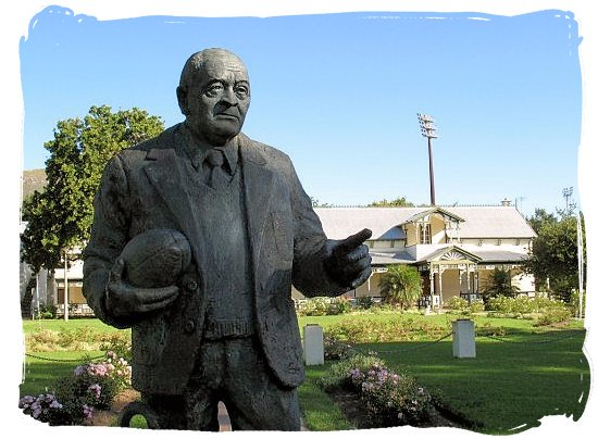 Statue of Dr. Danie Craven, 1910-1993. Player, Coach, Administrator and Great Man of South African rugby - Springbok rugby in South Africa and the South Africa rugby team
