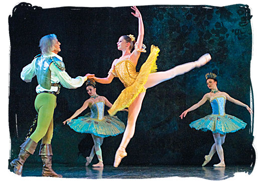 Scene from the South African Ballet Theatre production of Don Quixote, presented at the National Arts Festival In Grahamstown on 2 July 2008 - South Africa dance