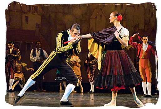 Scene from the South African Ballet Theatre production of Don Quixote, presented at the National Arts Festival In Grahamstown on 2 July 2008 - South African dance