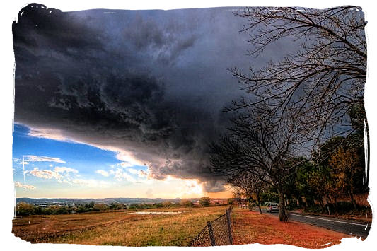 Threatening thunderstorm over the Highveld