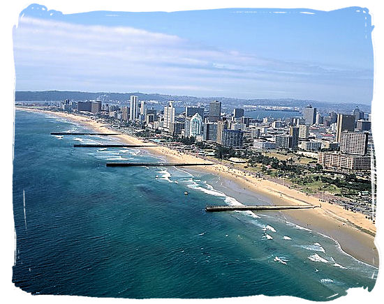 The beachfront of Durban's Golden Mile