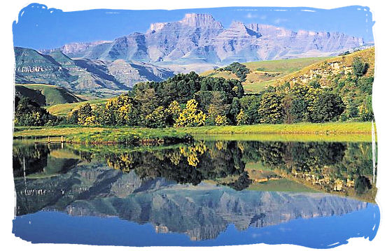 Champagne Castle in the uKhahlamba Drakensberg Mountains Park, a world heritage site