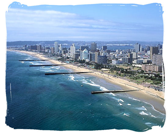 The famous Golden Mile beachfront of Durban