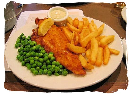 Fish and Chips - seafood cuisine in South Africa.