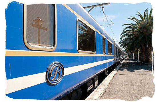 The world famous, 5 star luxury Blue Train