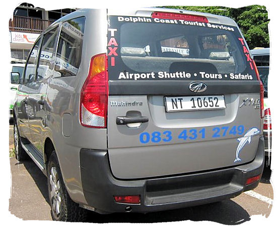 Metered taxis are a comfortable and safe way of getting around Durban
