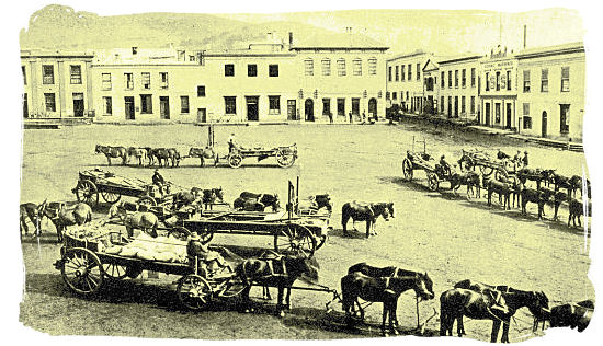 Greenmarket Square in 1889 - History of Cape Town South Africa, Cape of Good Hope History