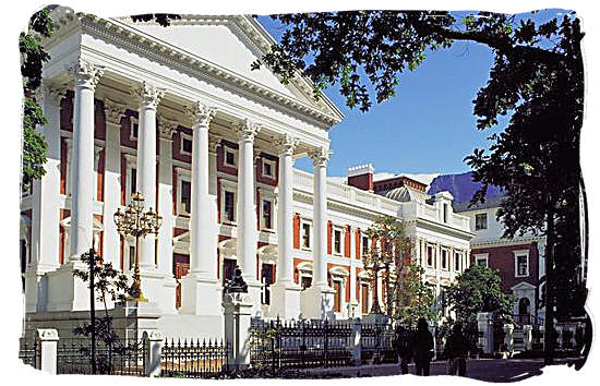 The houses of parliament in Cape Town South Africa - South African constitution