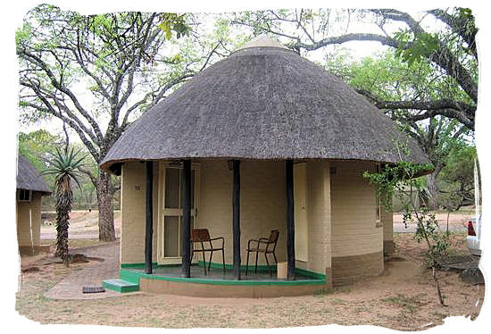 African style round hut with thatched roof at Pretoriuskop - Kruger National Park accommodation