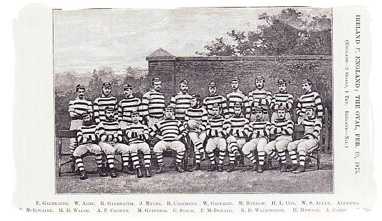 The Ireland national rugby team in 1875 - Springbo rugby
