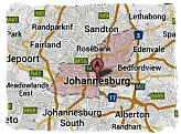 Map of Johannesburg, South Africa