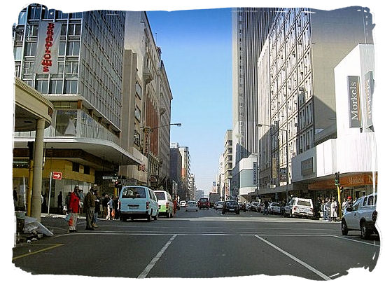 Street in Johannesburg central business district - City of Johannesburg South Africa, Tours and Travel guide