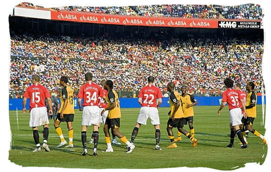 Kaiser Chiefs of South Africa vs Manchester United of England - Soccer in South Africa, Bafana Bafana South African Soccer Team
