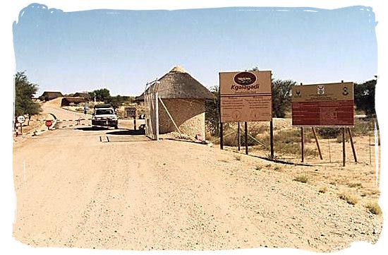 Entrance to the Kgalagadi at Twee Rivieren - Kalahari Camp, Kgalagadi Transfrontier Park, South Africa