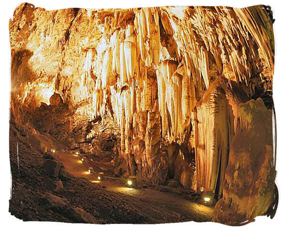 The Kromdraai cave interior, another treasure chest of hominid fossils, situated nearby the Sterkfontein caves