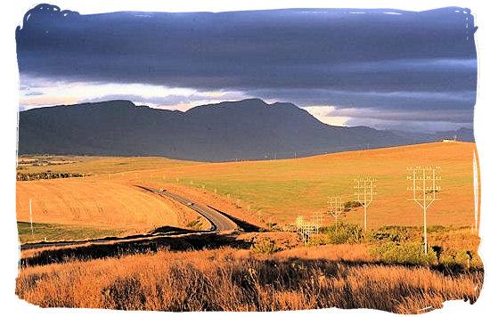 The N2 highway not far from the Bontebok National Park