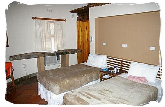 Cottage bedroom in Leokwe rest camp - Mapungubwe region