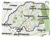 Map of Limpopo province, South Africa